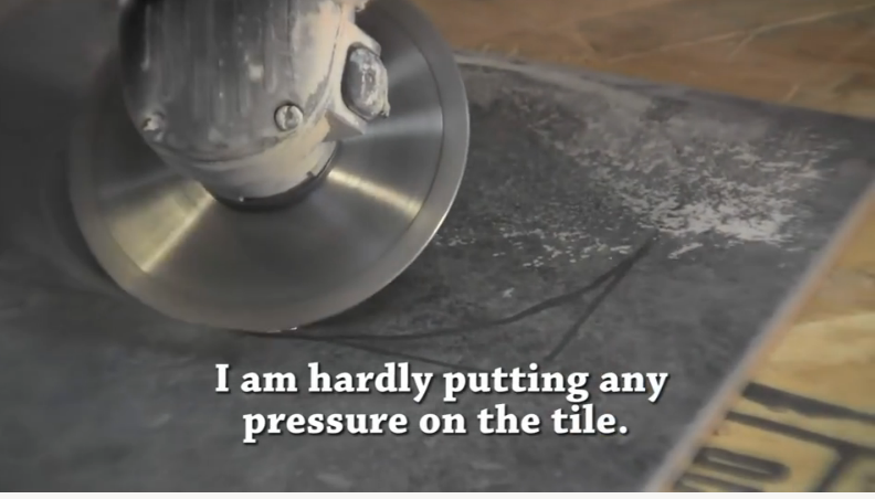 How to Cut Porcelain Tile around the Toilet Flange