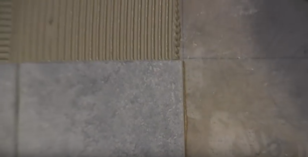 How do you lay ceramic tile